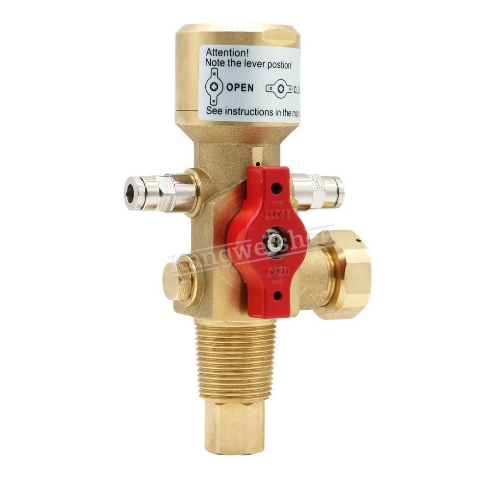 Латунь FM200 огонь Trace клапан использовать для Co2 Огнетушитель