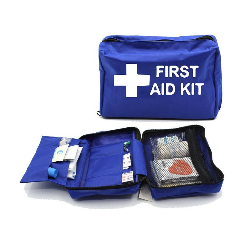OEM Blue Portable Customized Multi-function Waterproof Small Travel Compact First Aid Kit for Boat Car travel medical