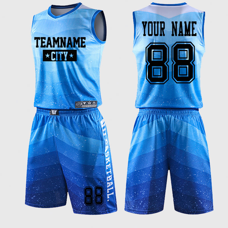 Wholesale customizable youth basketball uniform For Teenager and Team wear