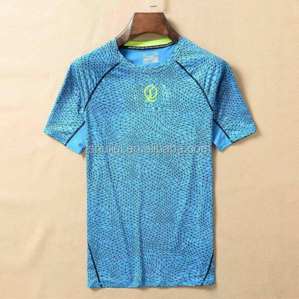 Neue ankunft mens dry fit leichtathletik polyester/spandex t-shirt SHULIQI schnelle durchlaufzeit