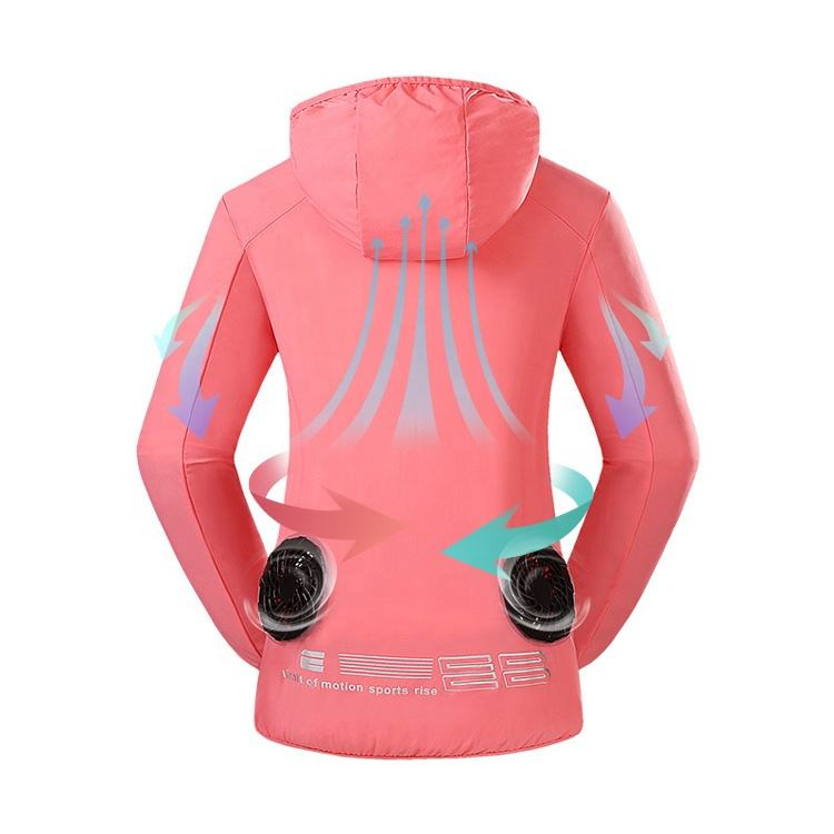 Factory Price Sun-Protective Waterproof Outdoor Women And Men Air Conditioned Cooling Jacket Clothing