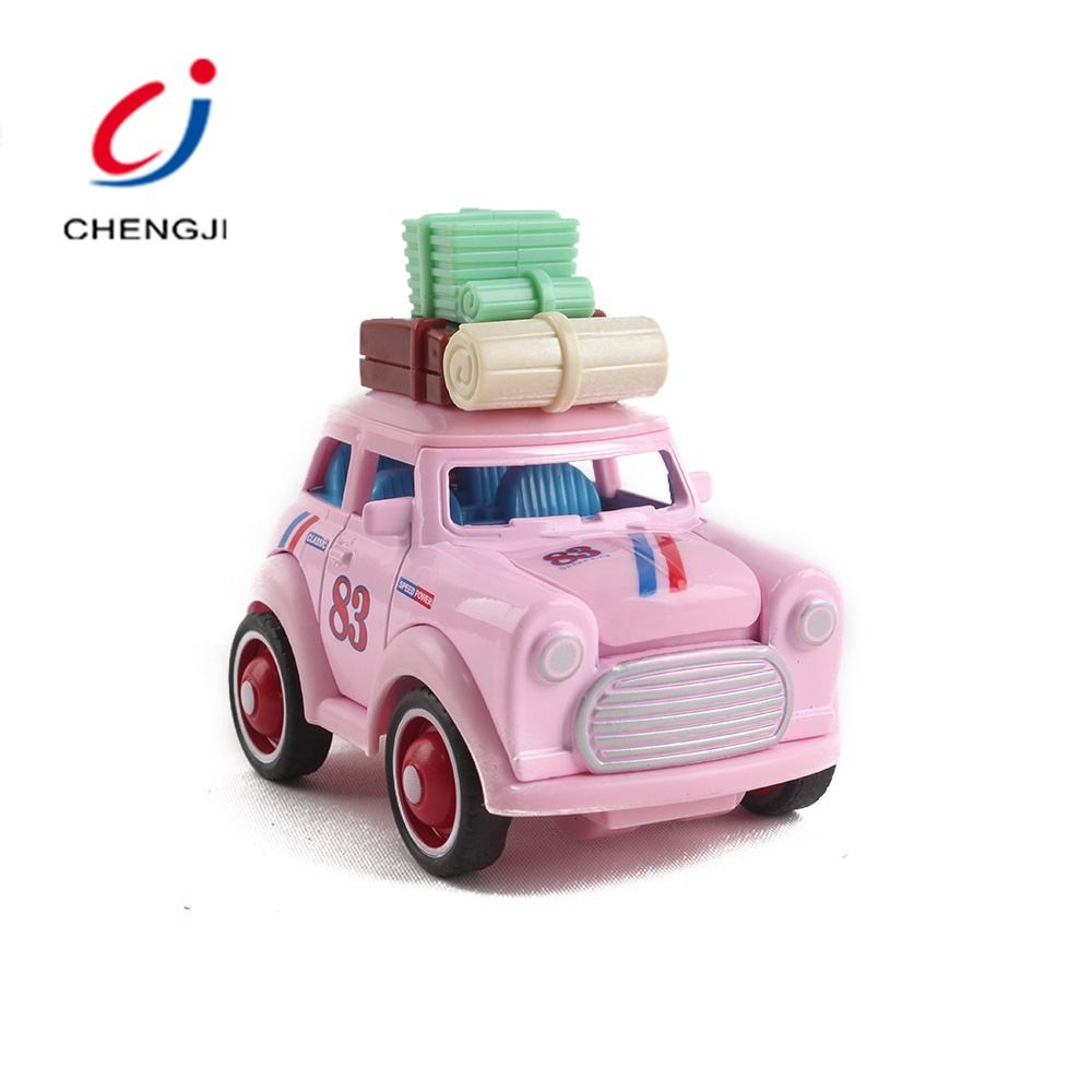 Wholesale classic realistic pink die cast inertial alloy truck cute mini toy car