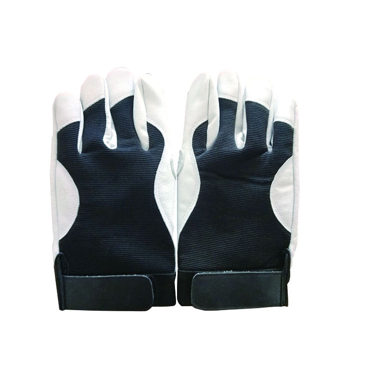 Offre Spéciale extérieur antidérapant en cuir noir gréeurs gants chamois en cuir gants