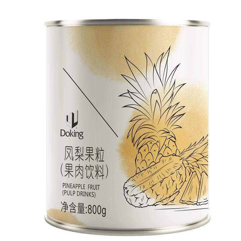Factory supply high quality sweet fresh Canned Pineapple Fruit Pulp Drinks