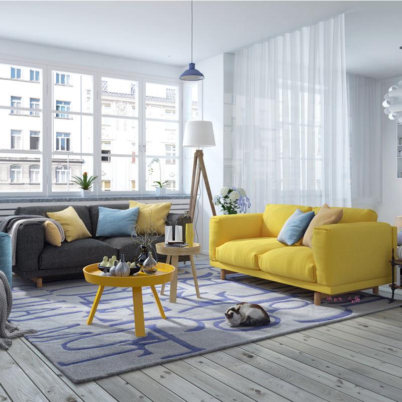 Gran oferta, mobiliario moderno para sala de estar, diseño de conjunto de sofás de tela con látex último modelo de alta calidad,