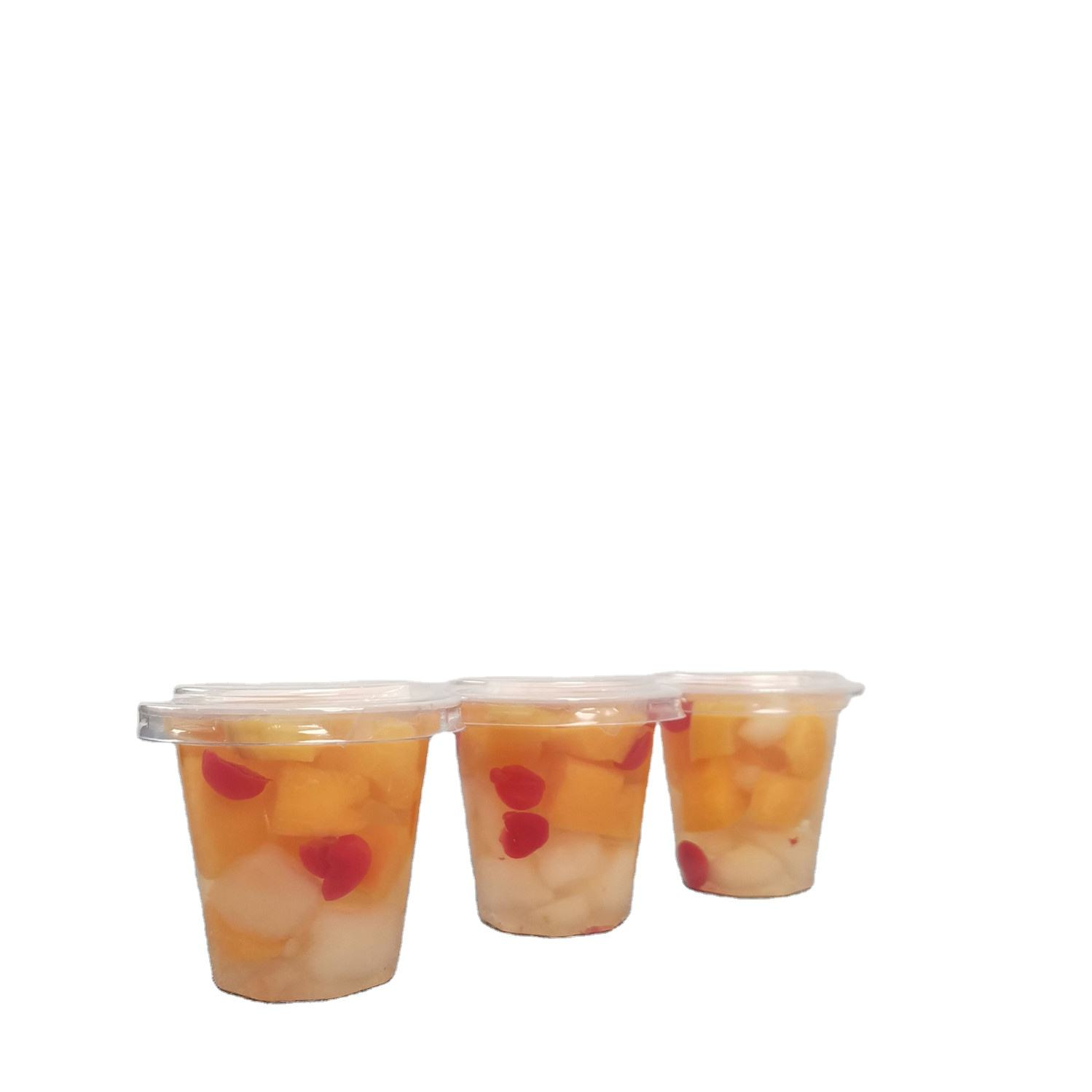 Factory Supply Foods Cup Fruit Cocktail in Light Syrup 198g/7oz