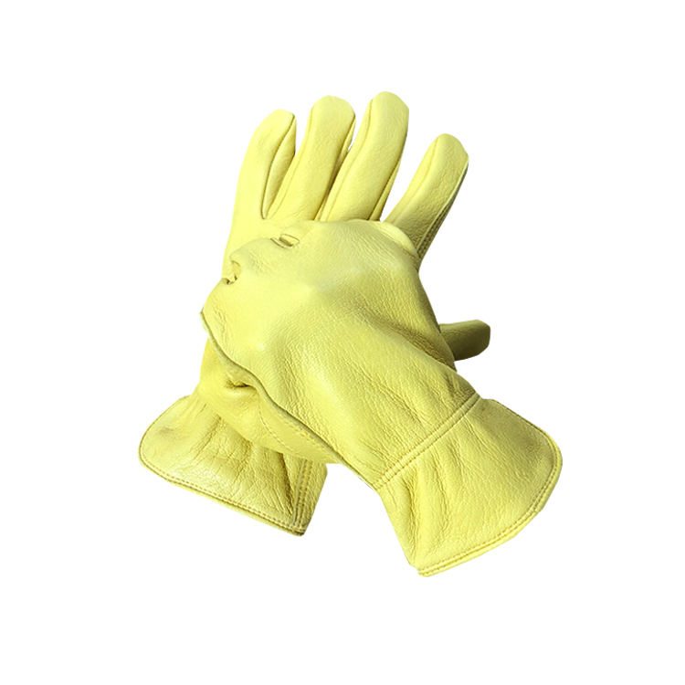 Factory price oil resistant safety worker saftey leather gloves for construction workers