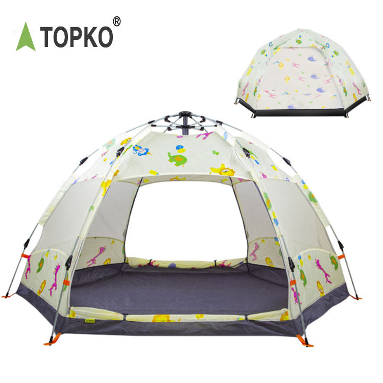 TOPKO wholesale high quality fully automatic dome tent camping outdoor