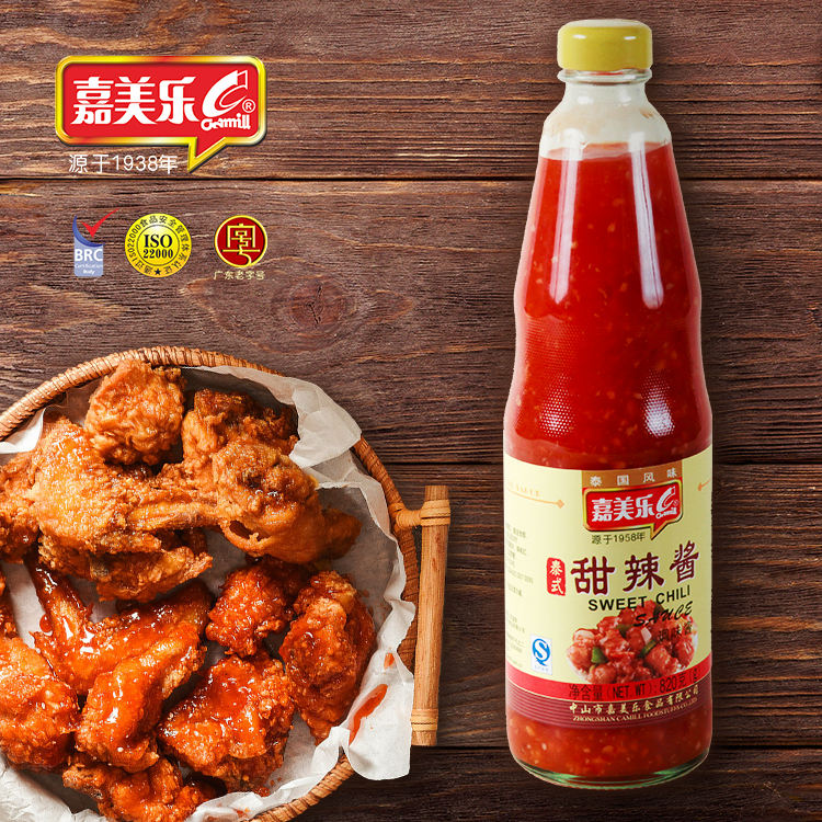 Factory production healthy fresh chili sauce wholesale fried chicken spicy and sweet chili sauce