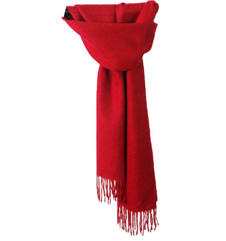 100% rojo puro bufanda de la Cachemira es Super suave y cómodo de Mongolia Interior OEM