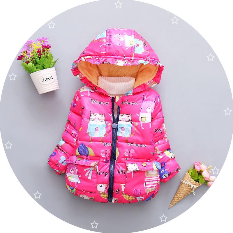 Плотное теплое хлопковое пальто с капюшоном для маленьких девочек оптовая продажа, детское зимнее пальто, одежда