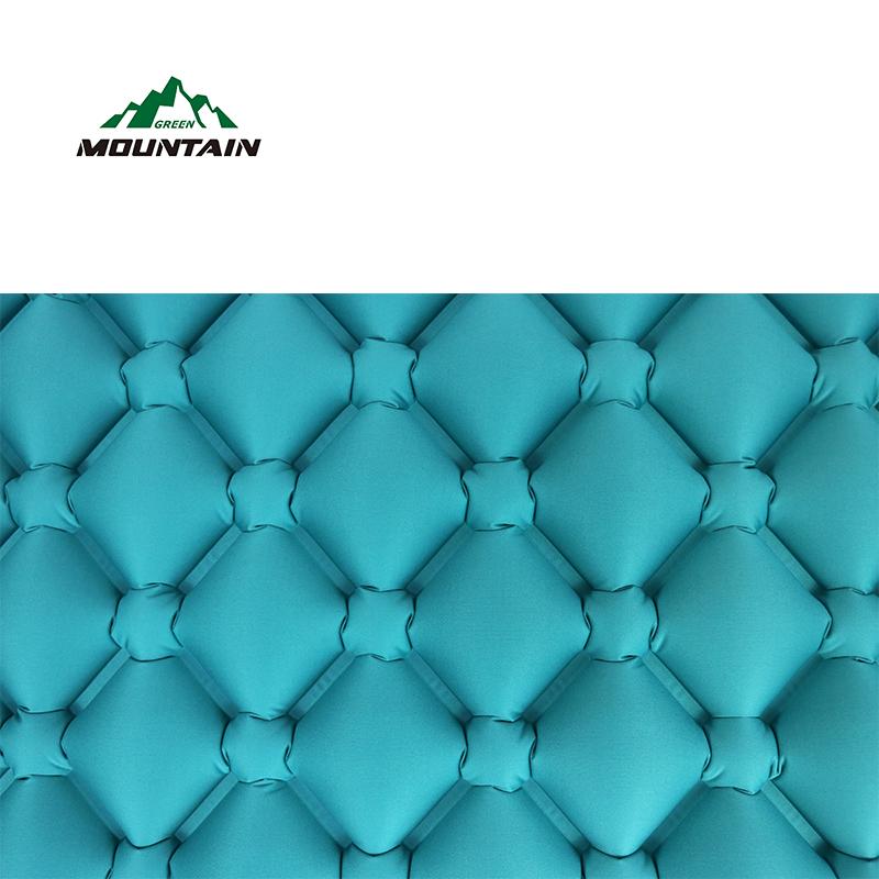 открытом воздухе ТПУ материал надувные подушки двойной цвет коврики Air кровать коврик с завышенной Сумка для кемпинга ТПУ