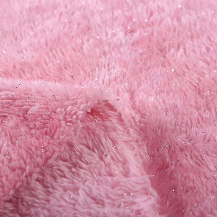 Venta caliente de shu filamentosos de <span class=keywords><strong>plata</strong></span> rosa de algodón suave de tela de terciopelo