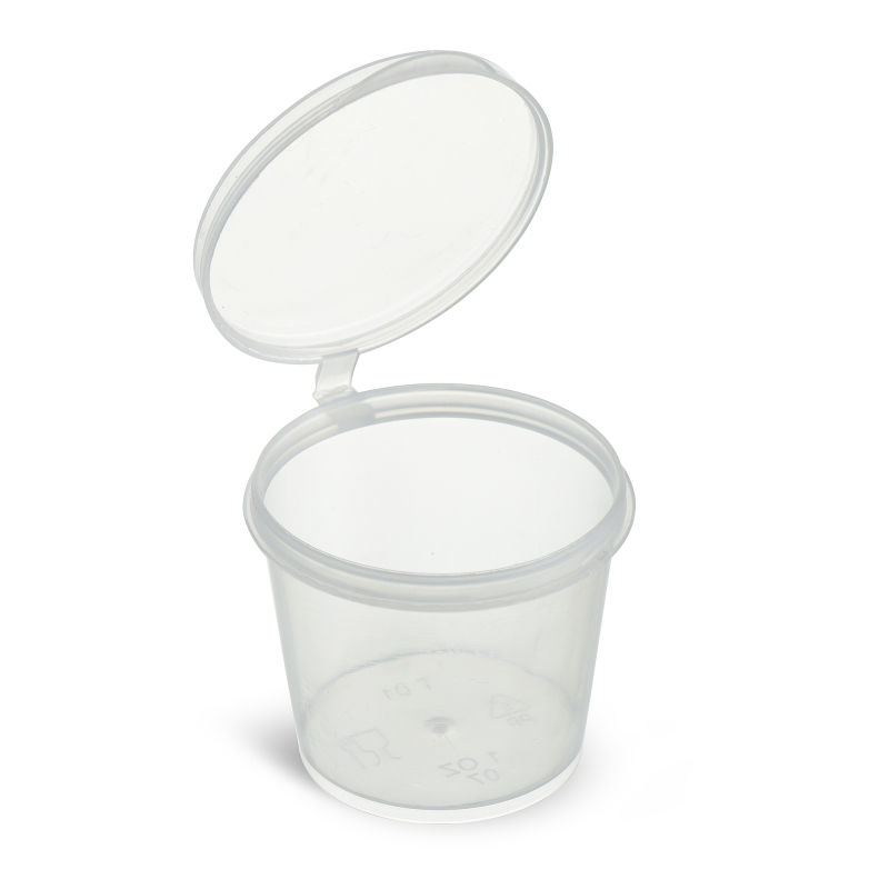 FREE SAMPLE 1OZ Disposable Clear Plastic Sauce Cups with Lids, Portion Cups with Lids, Souffle Cups