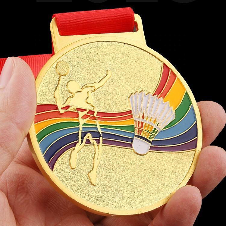 China fabricante de costume corrida badminton medalha pewter 3d medalha de maratona
