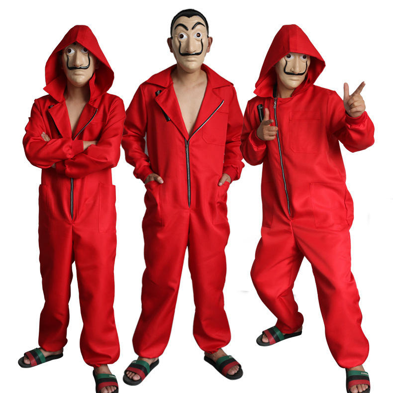 NewスタイルSalvador Dali Cosplay La Casa De Papel Costume Child Adult Man Woman HalloweenコスプレCostume