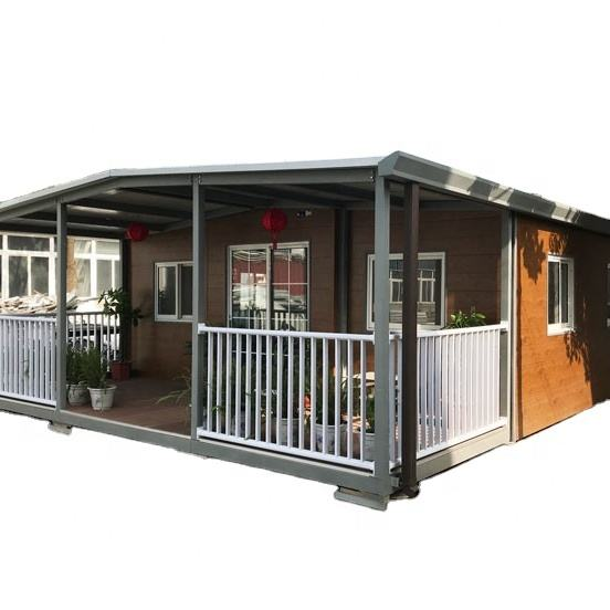 Best Selling Modern Design Portable Folding Easy Install Two Bedrooms 20 ft Expandable Container House For Living