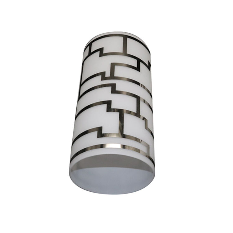 White cylindrical glass lamp shade, modern style lamp shade, suitable for wall lamp droplight