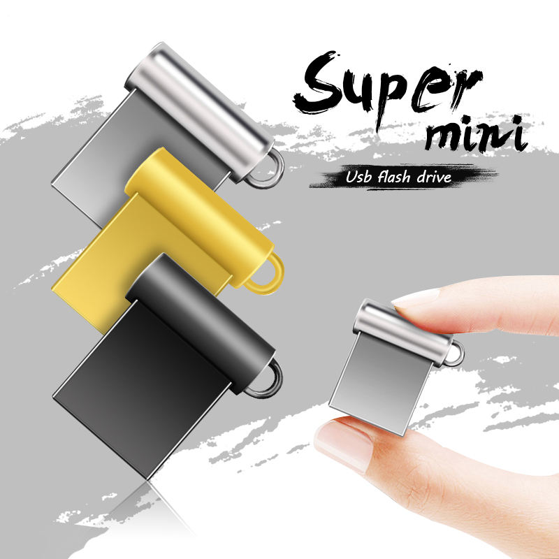 Metal USB Flash Drive 2.0 Mini Pen Drive 64GB 32GB 16GB Memory USB Stick Pendrive 128gb U Disk Flash Drive 256GB+ free key ring
