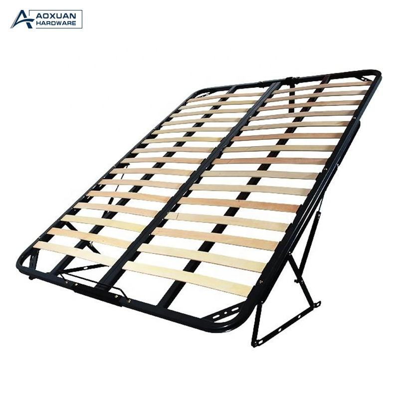 Low MOQ slatted bed frame with gas lift storage