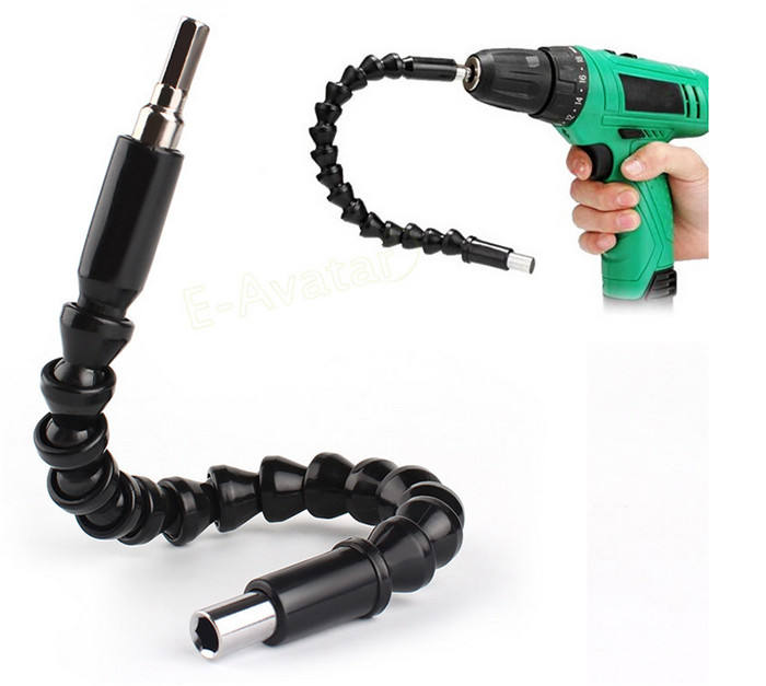 "Repair Tools Black Flexible Shaft Bits Extention Screwdriver Bit Holder Connect Link Electronics Drill 1/4"" Hex Shank"