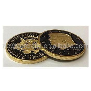 Таможенный президент США Трамп Золотая монета