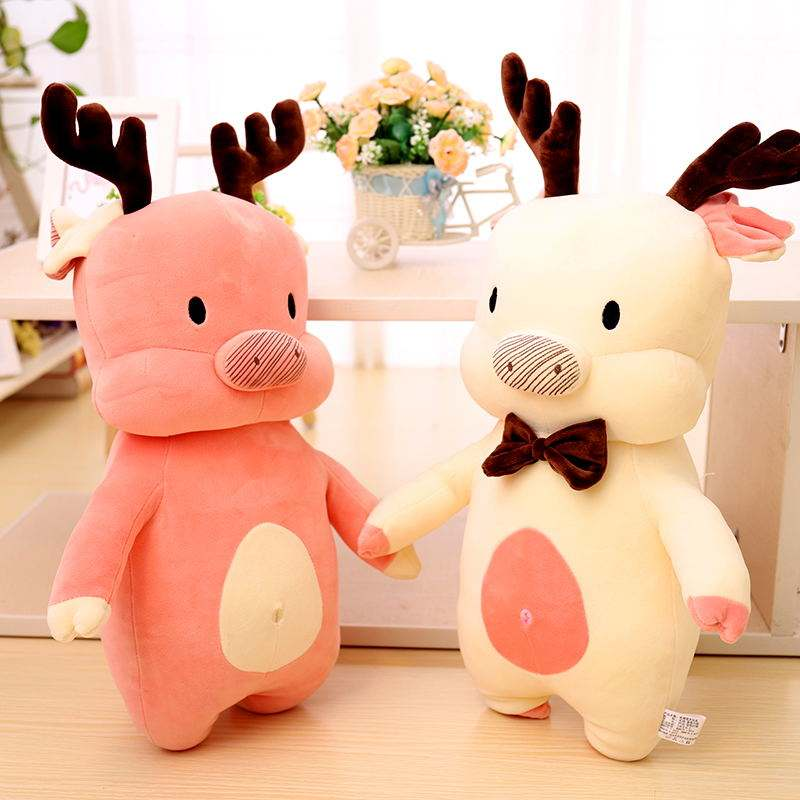 2020 wholesale cheap oem custom promotion hotsale promotion fashion christmas pig plush toy