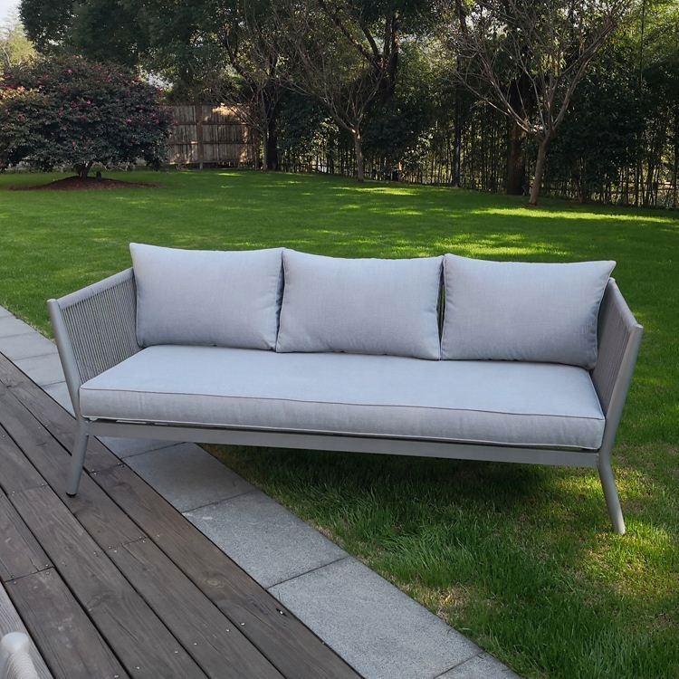to caliente proveedores sofá popular usado aluminio fundido metal comercial nuevo diseño patio al aire libre muebles de aluminio