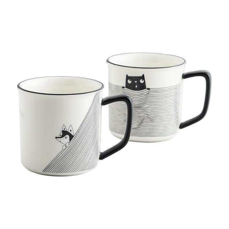 عالية الجودة الإبداعية قدح قهوة من السيراميك <span class=keywords><strong>الخزف</strong></span> الكرتون القط <span class=keywords><strong>الكلب</strong></span> فنجان شاي