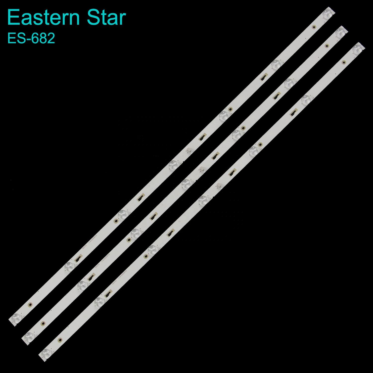 ES-682 LED backlight strip 43D2700 3*7 43HR332M07A0 V2 use for TCL 43A9000 3PCS/set 755MM
