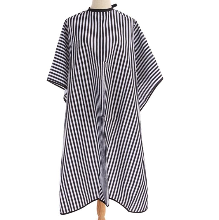 Nach schwarz und weiß streifen 120x160 salon make-up schneiden cape, friseure cape mantel