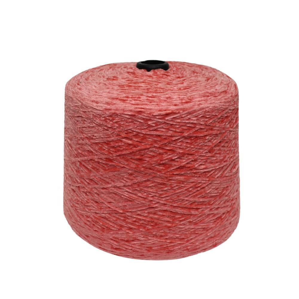 卸売テキスタイル染色 1/4。5Nm 100% ポリエステル光沢のある綿手編み物ファンシーブレンド分厚いシェニール糸ウィービング