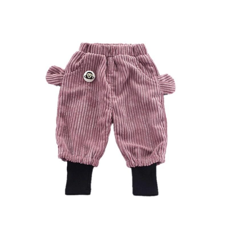 Высокое качество осень и зима прекрасный хлопок сплошной карман детские штаны
