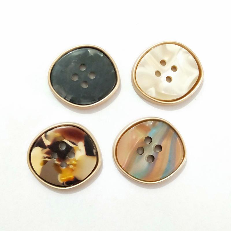 4 furos fantasia novo design shell botões para roupas de alta-qualidade