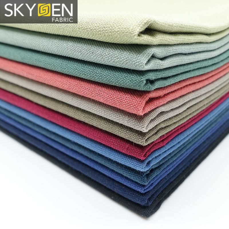 morbido tessuto di colore solido commercio all'ingrosso francese irlandese italiano di lino tessuto di cotone per i vestiti