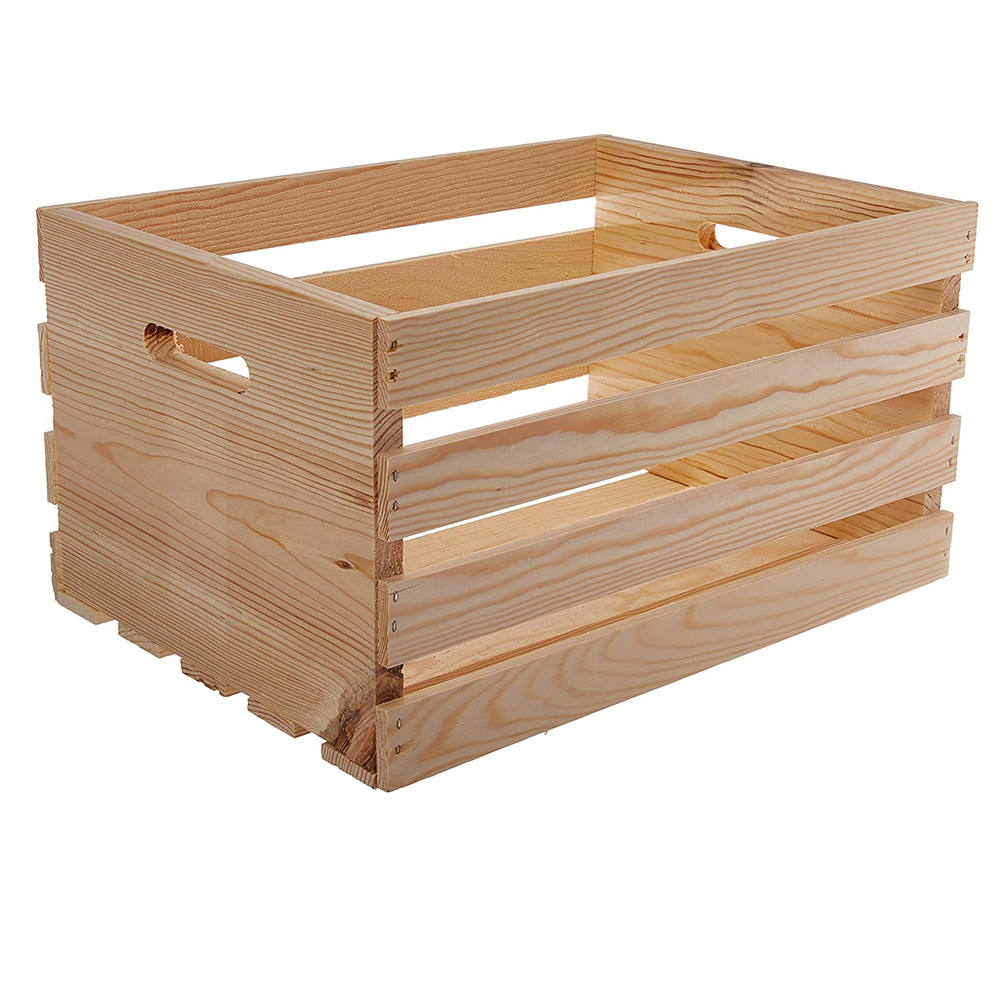 Wholesale Cheap Unfinished Wooden Large Crate