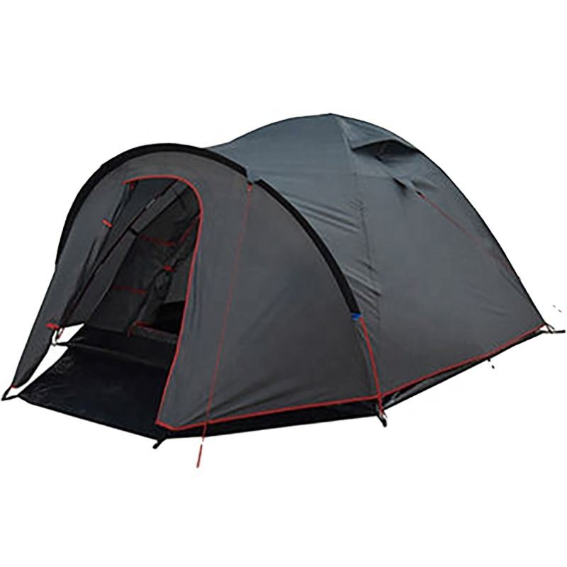 3-4-person Dome Tent For Outdoor Camping with Double Skin & Half Mesh Door