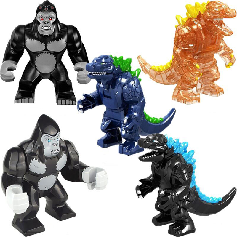 Famous Movie Big Monster Godzilla Figures King Building BlocksChildren Toys GXL047 GXL048 JM017