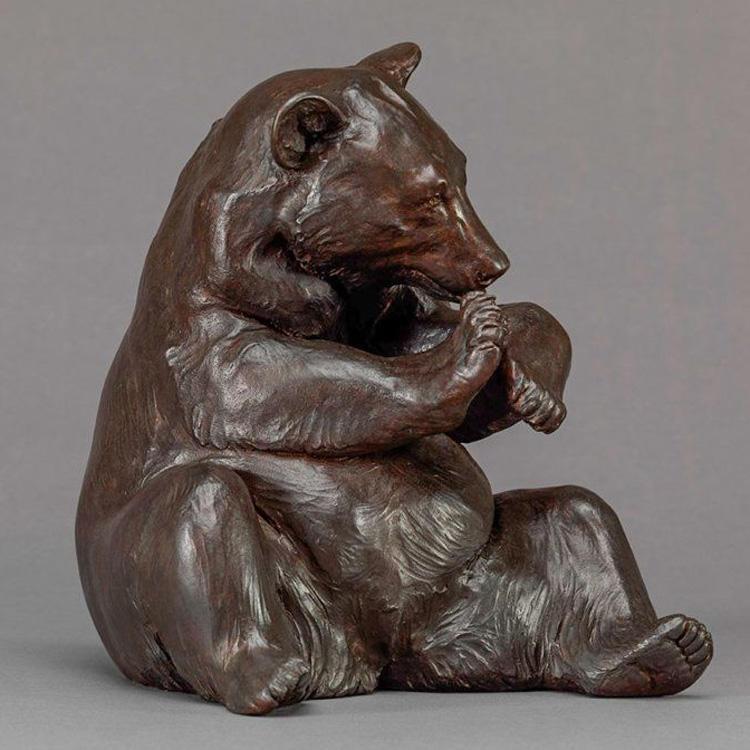 Tốt nhất các mặt hàng bán chạy Ngoài Trời Bronze Gấu Cổ Điêu Khắc Động Vật
