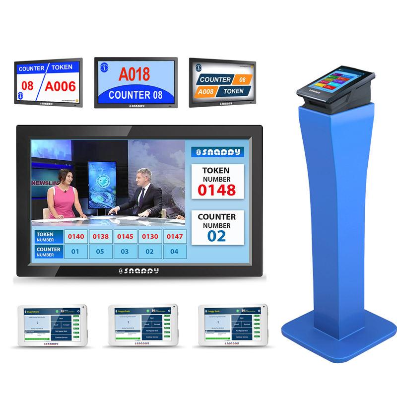 Snappy sistema de gestión de colas para administrativa del gobierno centro de servicio 8 pulgadas dispensador de entrada