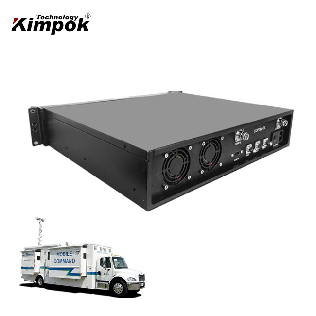 في الهواء الطلق طويلة المدى COFDM اللاسلكية الارسال 60 واط الفيديو ونقل البيانات RS232/RS485 PTZ التحكم