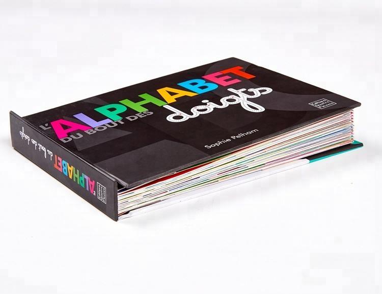 Alfabeto das crianças livro de Bordo com página dobrado & glue dots impressão