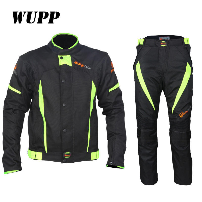 Two Piece Jackets & Pants Biking Overall Driving Waterproof Motorcycle Suit For Man
