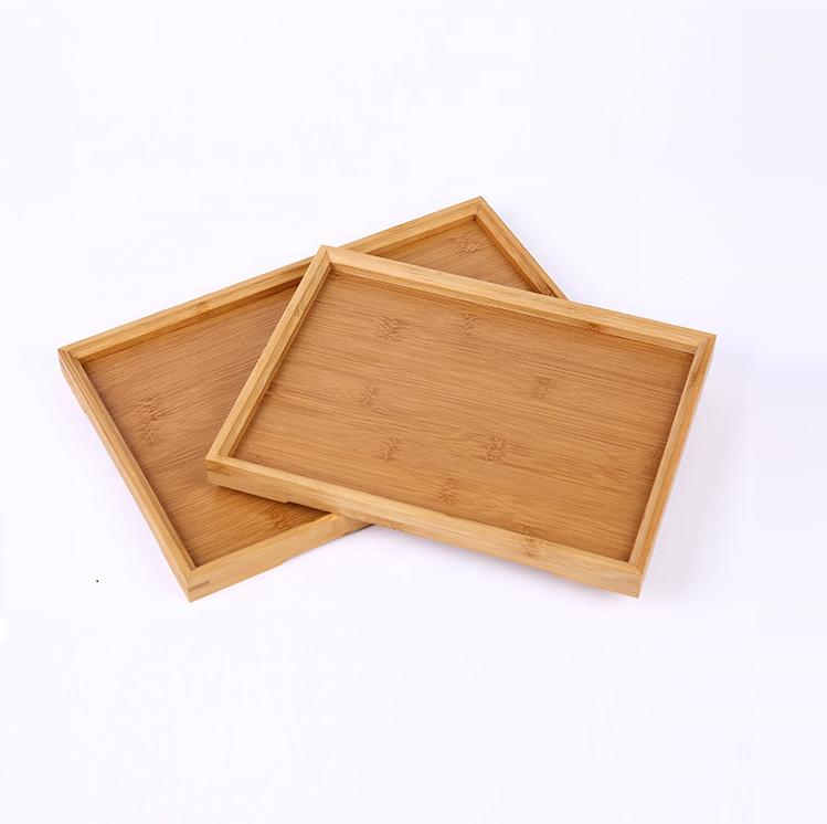 Hot sale Country Rustic style wood trays bamboo material wooden serving tray wholesale