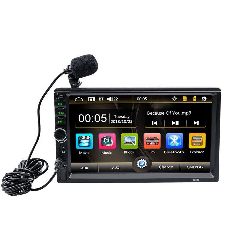 2 Din 7880S <span class=keywords><strong>общие</strong></span> модели автомобилей 7 ''дюймовый ЖК дисплей емкостный экран автомобиля радио плеер Bluetooth аудиомагнитолы авт