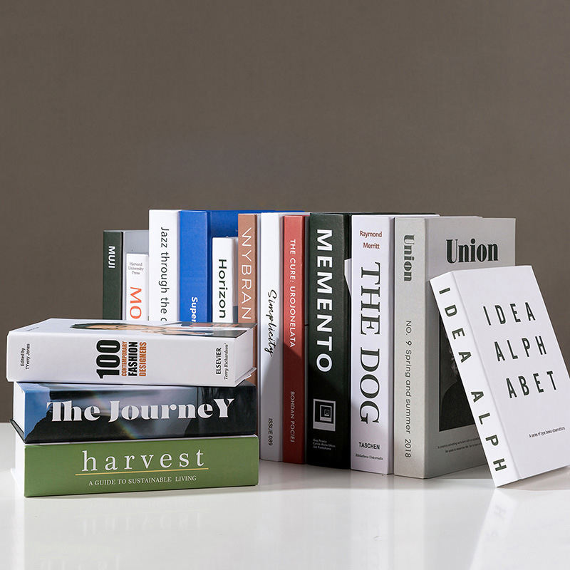 Modern Style Fancy Fashion Book Shaped Box Decoration Model Hard Cover Hollow Decorative Book Shaped Boxes