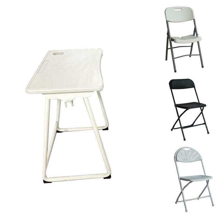 白折りたたみホワイトボードピクニックカバー価格と椅子織ランナー卸売プラスチックテーブル