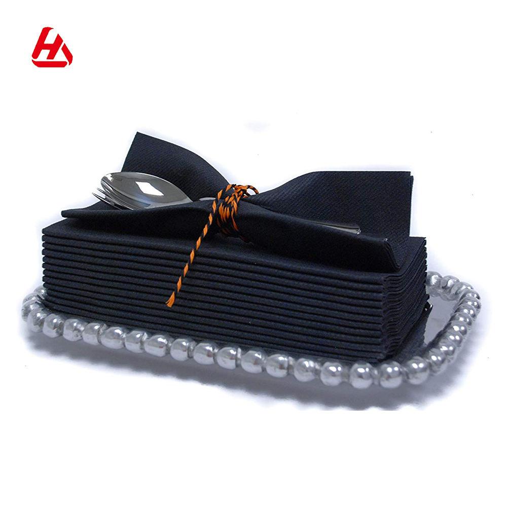 Qualité supérieure <span class=keywords><strong>Airlaid</strong></span> Tissu Violet Comme Papier Serviettes en Lin Comme Serviettes