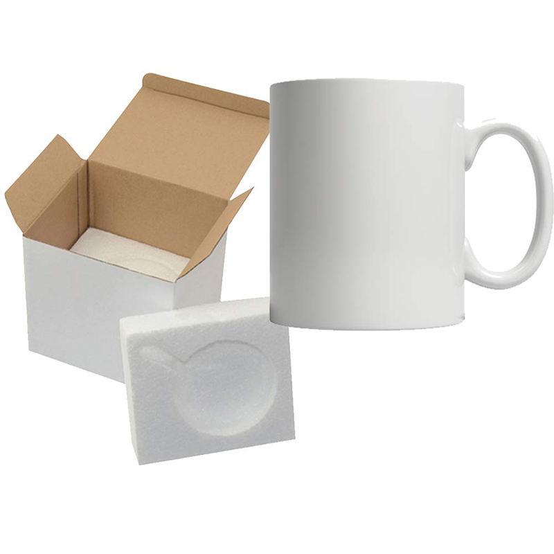 Белые пустые сублимационные оптовые керамические кофейные кружки для сублимации