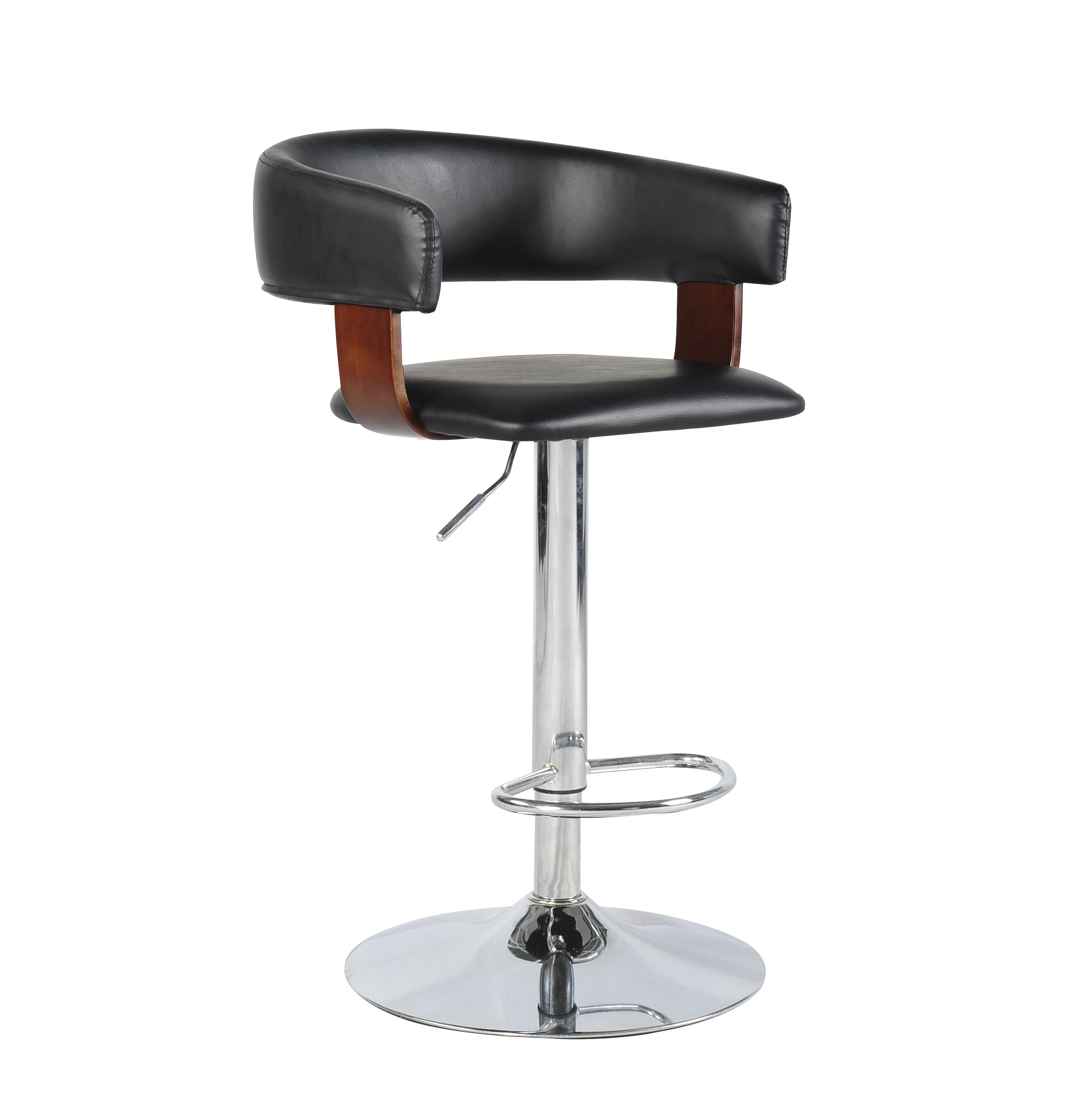 Luxury Modern Adjustable PU Metal Lifting Swivel Bar Stool